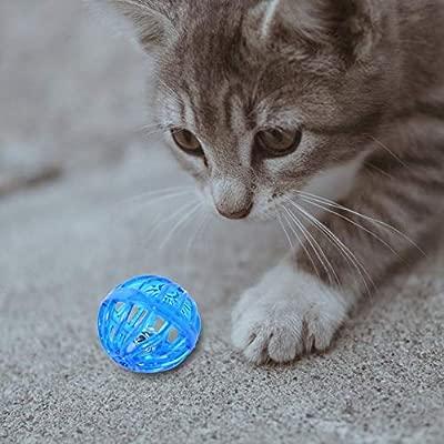Rubyu - Pelota de plástico para Perro, diseño de Cascabel, 10 ...