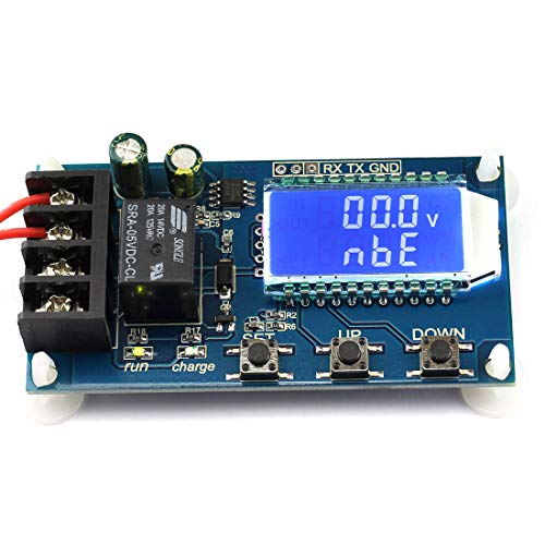 DZS Elec 1-Pack Battery Charge Controller Module Overcharge Protection Board Auto Charging/Cycle Charge/Limited Time Charge Switch Relay LCD Monitor for DC 6-60V Battery Lithium Battery