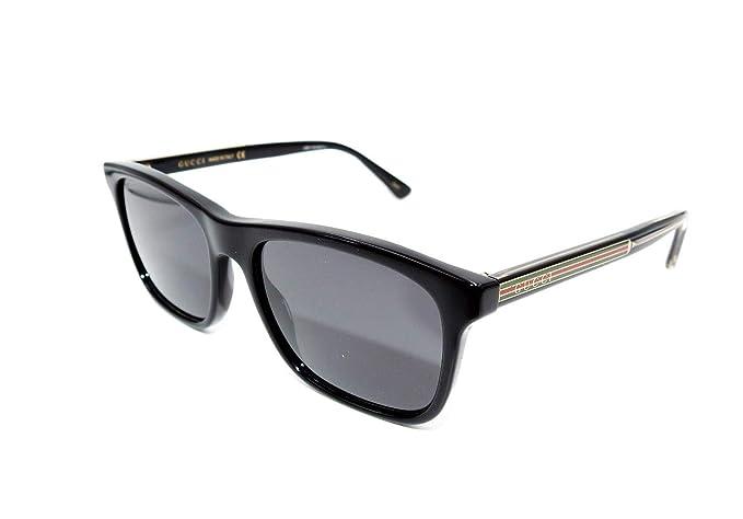 ecbbb8446d Gucci Occhiali da sole GG0381S // 001-black-black-grey: Amazon.it:  Abbigliamento