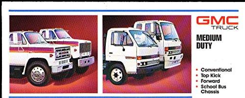 1988 GMC Medium Truck Original Car Sales Brochure - School Bus Topkick Isuzu W7