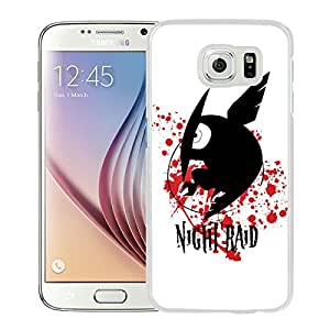 Beautiful Designed Case With Akame ga Kill Night Raid White For Samsung Galaxy S6 Phone Case