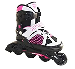 Mongoose adjustable inline skates are great for growing kids of all ages. The skates are adjustable through 4 sizes which allows kids to grow into the skate. The adjustable size will not require a new pair every year as they grow and can be h...
