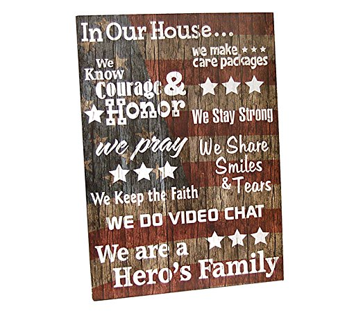 MILITARY LIFE Patriotic Hero's Family Word Art Wooden Sign Wall