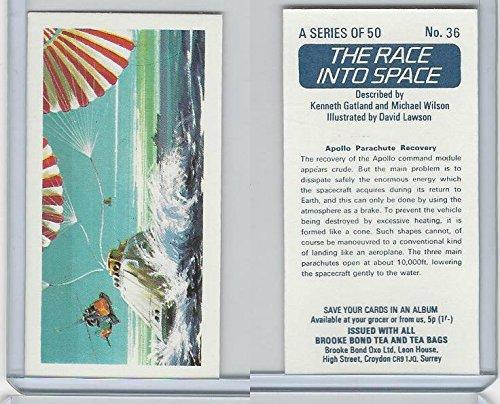 B0-0 Brooke Bond Tea, Race Into Space, 1971, 36 Apollo Parachute Recovery