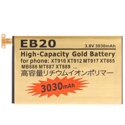 LOPURS Eb20 3030mah High Capacity Gold Business Battery with Screwdriver for Motorola Xt910 / Xt912 / Mt917 / Xt885 / Mb886 / Mt887 / Xt889