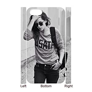 3D IPhone 4/4s Cases Kristen Stewart Looks Best When Absolutely no ONE Styles Her. She Does Effortless Grunge so Well Without Even Knowing It., IPhone 4/4s Cases Kristen Stewart for Girls, [White]