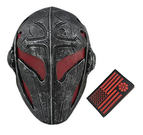 Tactical Full Face Protection Knight Mask Templar (Red)
