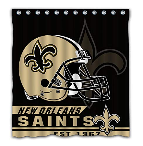 Felikey Custom New Orleans Saints Waterproof Shower Curtain with Color Bathroom Decoration Size of 66x72 Inches ()