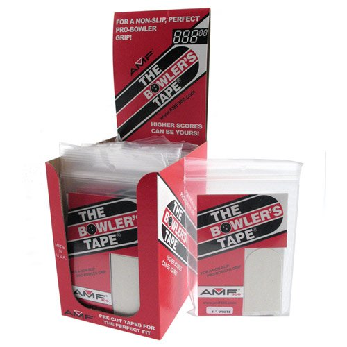 Bowlers Dispenser 30 pc. Tape 3/4'' Thumb White (12/pkg) by AMF