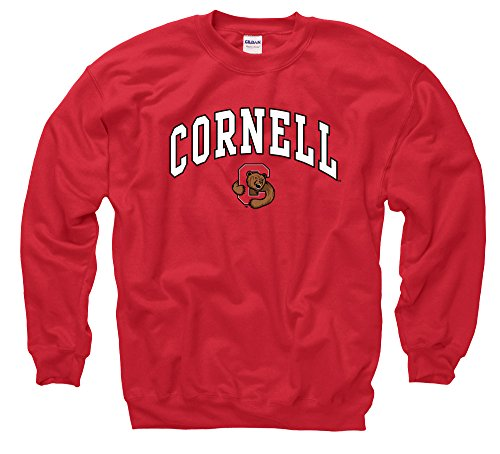 Cornell University Big Red Men's Crewneck Sweatshirt-Red
