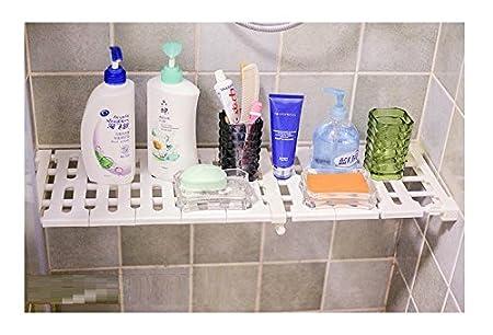 1 Pack Bathroom Wardrobe Shopline Adjustable Storage Rack Shelf Refrigerator Bookcase Compartment Collecting // Random Color S // 30-40cm Layered Organizer Divider Holder for Kitchen Cupboard