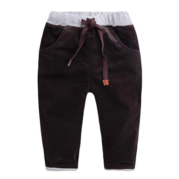 a51e3ddfd Happy cherry - Pantalones de Invierno para Niños Bebés Grueso de Pana  Cálidos Pants Kid Winter