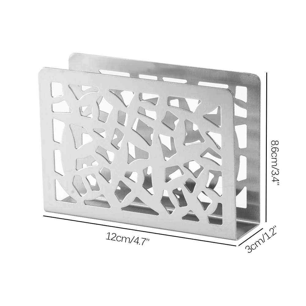 Window Grille ALLOMN Stainless Steel Napkin Holder Stand Freestanding Tissue Dispenser Table Vertical Napkin Clip for Home Kitchen Decoration