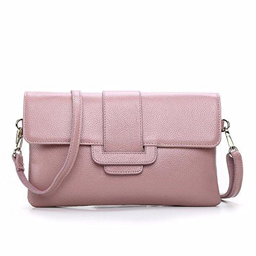 2018 nueva moda damas solo hombro inclinado Cruz bolsa de mano marea,Pink Pink