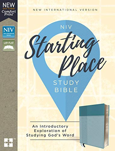 Niv, Starting Place Study Bible, Leathersoft, Blue, Indexed, Comfort Print: An Introductory Exploration of Studying God's Word