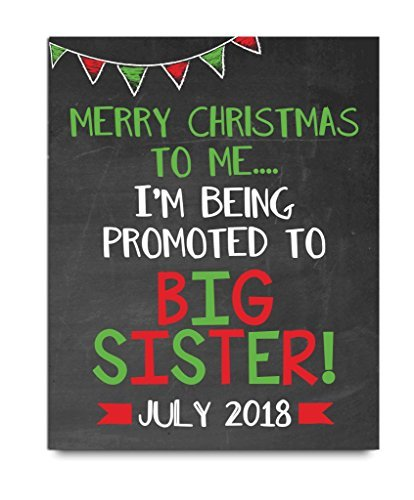 amazon com christmas big sister announcement wooden plaque sign