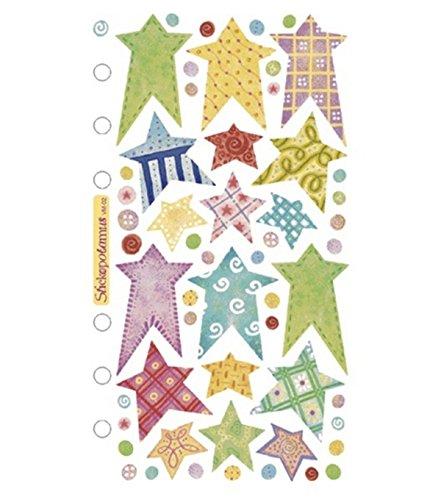 Sticko Vellum Stickers - Pastel - Vellum Stars