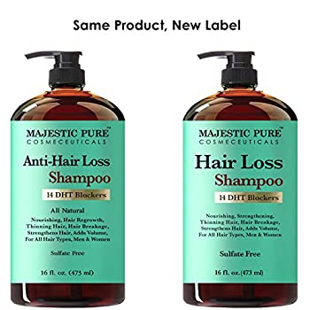 Majestic Pure Hair Loss Shampoo, Offers Natural Ingredient Based Effective Solution, Add Volume & Strengthen Hair, Sulfate Free, 14 Dht Blockers, For Men & Women - 16 Fl Oz 7