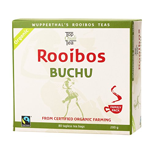 Buchu Rooibos Tea Bag |USDA Certified Organic | 100% Natural, Fair Trade, South African Herbal Beverage | 80 Teabags | Support for bladder and kidneys | Caffeine Free, Gluten Free by Topqualitea