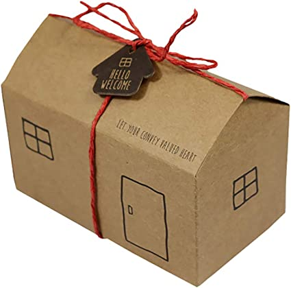 jingyuu 10 pcs caja de regalo Papel Kraft Suave Puncher decoración ...