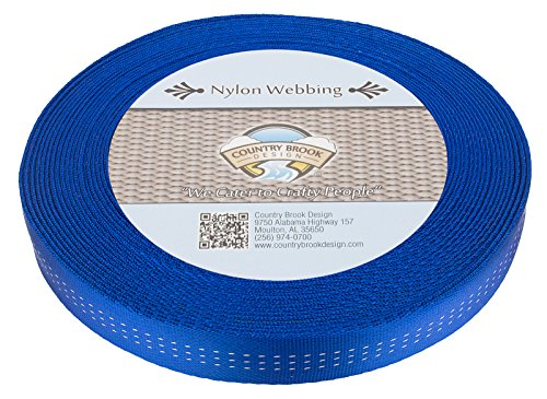 Country Brook Design 1 Inch Royal Blue Climbing Spec Tubular Nylon Webbing, 1. ()