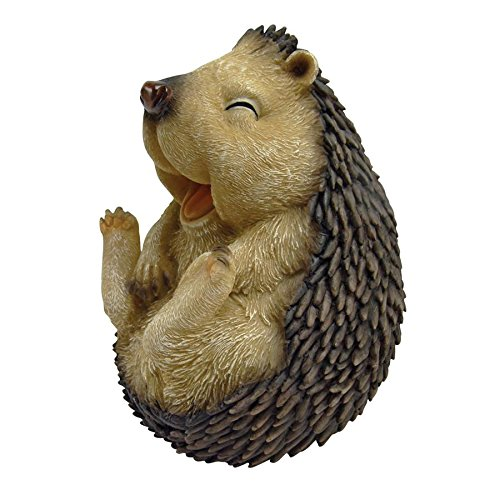 Design Toscano Roly-Poly Laughing Hedgehog Statue, Small