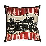 Best Thumbprintz Pillows - Thumbprintz Vintage Motorcycle Indoor/ Outdoor Throw Pillow 16 Review