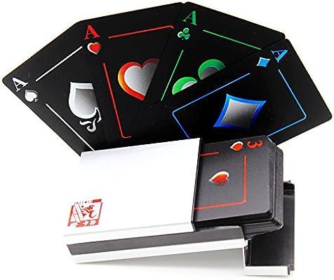 Cartas de póquer impermeables negros que juegan tarjetas de póquer profesionales tarjetas de la tarjeta de juego de juego de plástico de alta calidad ...