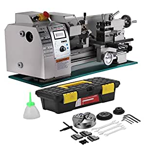 Mophorn Metal Lathe 8x16 Inch Precision Mini Lathe 2500 RPM 750W Variable Speed Milling Benchtop Wood Lathe with Digital Control System (8 x 16 Inch 750W)