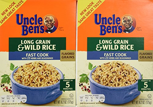 Uncle Ben's Long Grain and Wild Rice, Fast Cook Recipe, 6.2-Ounce Boxes (Pack of 12) by Uncle Ben's