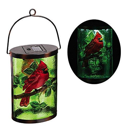 New Creative Cardinal Garden Friends Hanging Solar Lantern