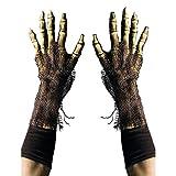 Zagone Studios Survivor Skeleton Reaper Gloves, Rotting Zombie Bone Hands