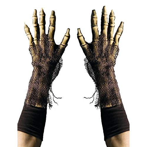 Zagone Studios Survivor Skeleton Reaper Gloves, Rotting Zombie Bone Hands ()