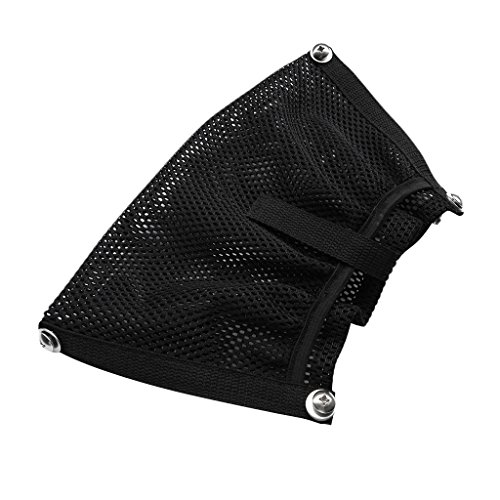 MonkeyJack Durable Black Nylon Marine Boat Yacht Kayak Canoe Dinghy Gear Accessories Beer Tackle Box Storage Mesh Bag Side Pouch Organizer 12