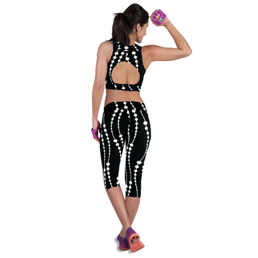 squarex Taille Haute Fitness Yoga Sport Pantalon Imprim/é Stretch Cale/çon