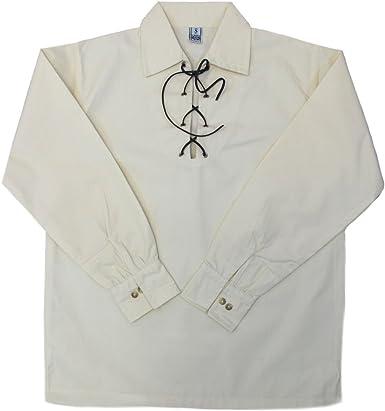 Tartanista - Camisa Escocesa Tipo jacobita/Ghillie - Crema/Beige - XXXL: Amazon.es: Ropa y accesorios