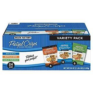 Snack Factory Pretzel Crisps Variety Pack, Individual 1.5 Oz Snack Packs, 24 Ct