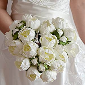 DES Artificial Fake Flowers Real Touch Peony Bouquets Wedding Bridal Bouquet for Centerpiece Decoration 73