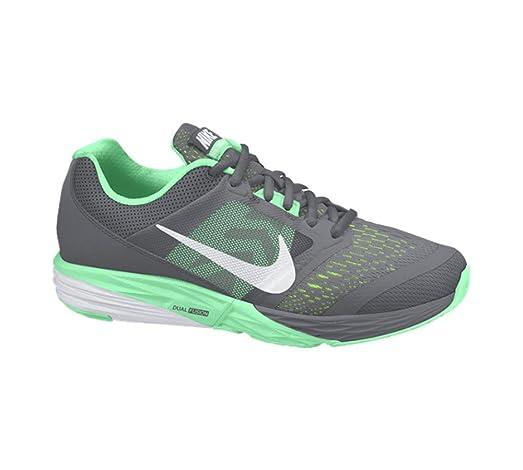 New Nike Women's Tri Fusion Run Running Shoe Grey/Green Glow 10