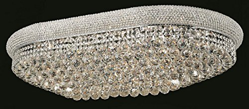 - Primo Collection Crystal Flush Mount Oval L40in W24in H12in Lt:24 in Spectra® Swarovski® Crystal