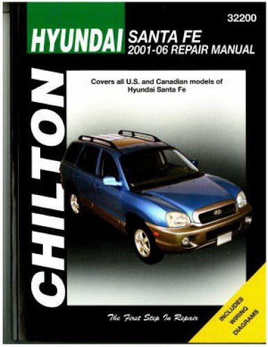 CH32200 Chilton Hyundai Sante Fe 2001-2006 Repair Manual ... on 2002 toyota camry wiring diagrams, 2001 lincoln navigator wiring diagrams, 2001 dodge ram wiring diagrams, 2001 toyota camry wiring diagrams, 2008 kia sportage wiring diagrams, 2001 ford ranger wiring diagrams, 2001 toyota 4runner wiring diagrams, 2001 jeep grand cherokee wiring diagrams, 2001 nissan maxima wiring diagrams, 2001 toyota tundra wiring diagrams, 1997 dodge intrepid wiring diagrams, 2001 mitsubishi galant wiring diagrams, 2001 buick lesabre wiring diagrams, 1998 honda civic wiring diagrams, 2001 pontiac grand am wiring diagrams, 2001 dodge durango wiring diagrams, 2001 jaguar s-type wiring diagrams, 2001 ford escape wiring diagrams,