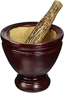 Thai Mortar Pestle Grinding Cookware Thai Food Menu Recipe Kitchen Tool Product of Thailand (5 inch)