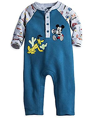 Disney Mickey Mouse and Pluto Knit Romper for Baby