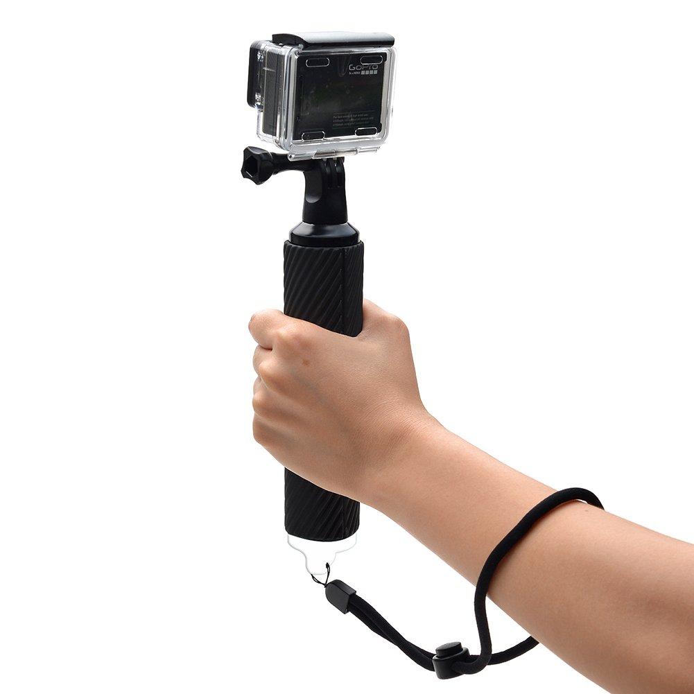 Bestmemories Buoyancy Rods Gopro Monopod Pole Floating Hand Grip(Handle Grip) Waterproof Gopro Handheld Selfie Stick Gopro Float Tripod Mount for Gopro SJCAM AKASO Geekpro Xiaomi Yi Cameras (Orange)