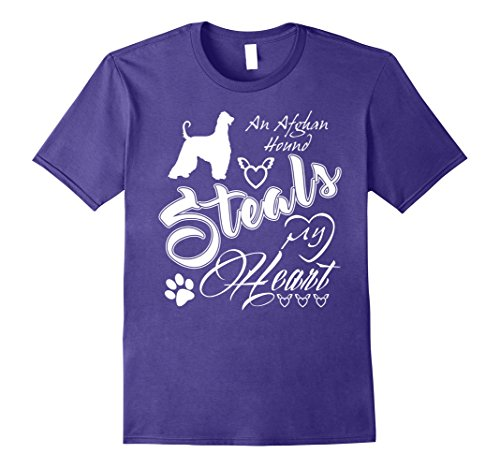 Womens Afghan Hound Funny T-Shirts For Dog Lovers XL Purple