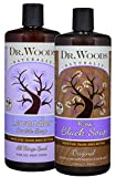 Dr. Woods Black Soap and Lavender Castile Soap, Body Wash with Organic Shea Butter Variety 2 Pack