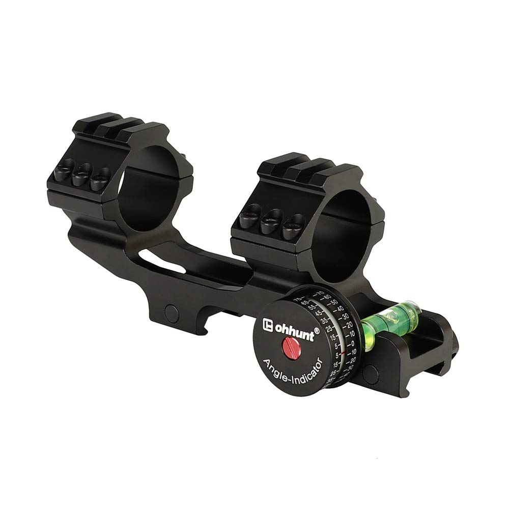 ohhunt 25.4mm 30mm Offset Bi-Direction Scope Rings Mount w/Angle Cosine Indicator Kit and BUBB Level Compass Hight Profit by ohhunt