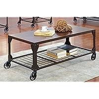 Furniture of America Kastas Industrial Coffee Table, Black