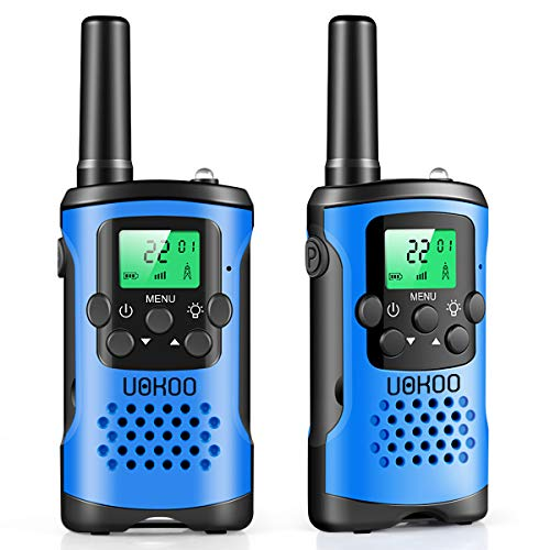 UOKOO walkie talkies for Kids, 22 Channel 2 Way Radio 3 Mile Long Range Kids Toys & Handheld Kids Walkie Talkies, Best Gifts & Top Toys for Boy & Girls Age 3 4 5 6 7 8 9 for Outdoor Adventure Game (Top Rated Toys For 7 Year Old Boy)