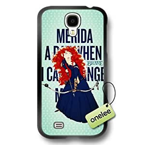 Disney Brave Princess Merida Soft Rubber(TPU) Phone Case & Cover for Samsung Galaxy S4 - Black